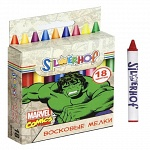 "Восковые мелки  SILWERHOFF ""MARVEL COMICS"" 18цв., 89мм, карт.европодвес"