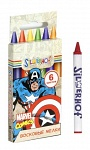 "Восковые мелки  SILWERHOFF ""MARVEL COMICS""   6цв., 89мм, карт.европодвес 884106-06"